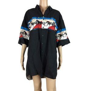 NIP Roper men's horse button up shirt